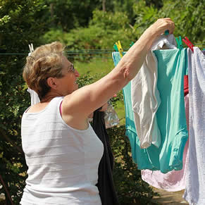 home care - older persons washing