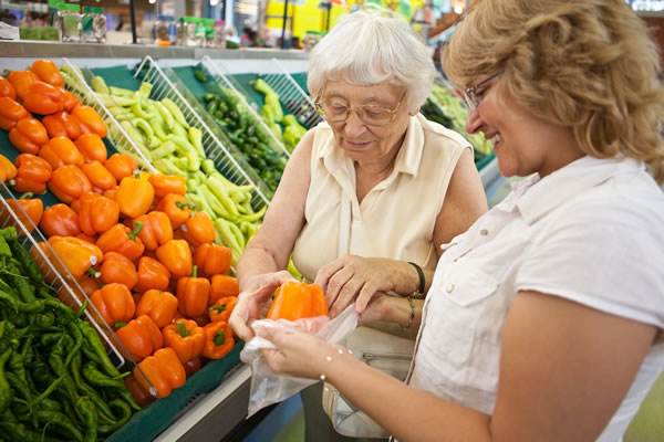 Home care assisted shopping services