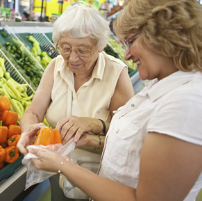 Aged care services - shopping assistance
